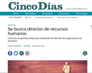 Se busca director de recursos humanos